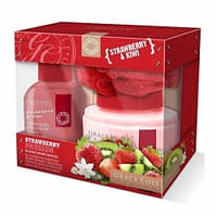 Grace Cole Набор для тела Strawberry Passion (гель для душа+ лосьон для тела+мочалка) клубника киви