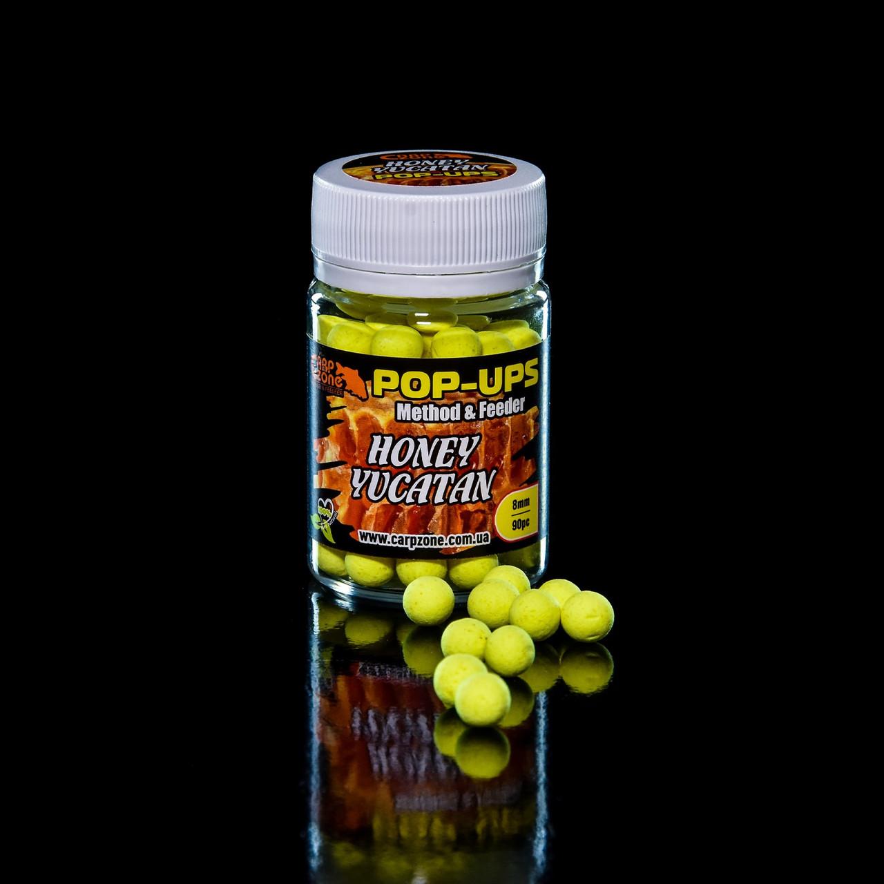 Поп Ап CarpZone Pop-Ups Method & Feeder Honey Yucatan (Мед Юкатан) 8mm/90pc