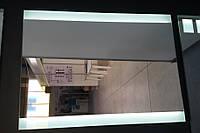 Ультратонкое зеркало со светодиодной подсветкой в алюминиевой, индивидуальный размер