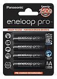 Аккумулятор PANASONIC Eneloop Pro AA 2500 mAh Ni-Mh 1.2v (BK-3HCDE) Пальчиковая батарейка в Блистере, 4ШТ, фото 2
