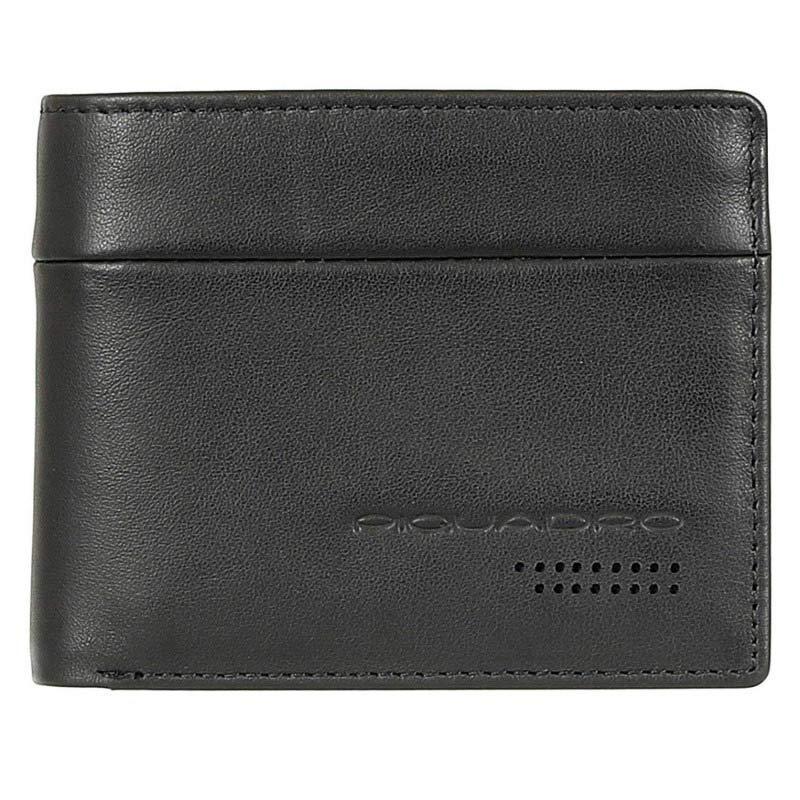 Італійське шкіряне портмоне чорне 11*9*2 див. 2201259