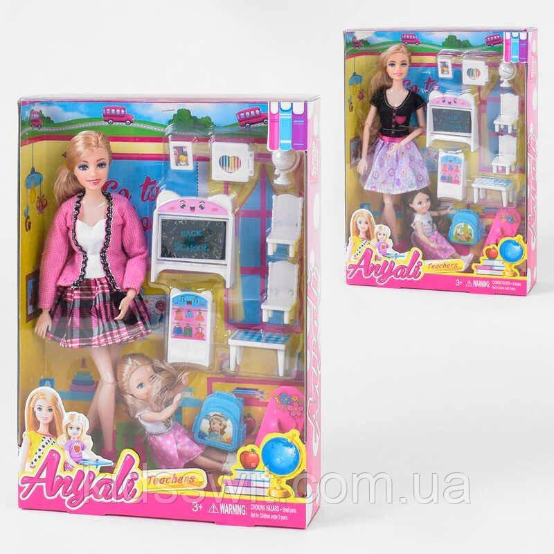 """Кукла 303-4  """"Учитель"""" 2 вида, кукла ребенок, мебель, аксессуары, в коробке"""