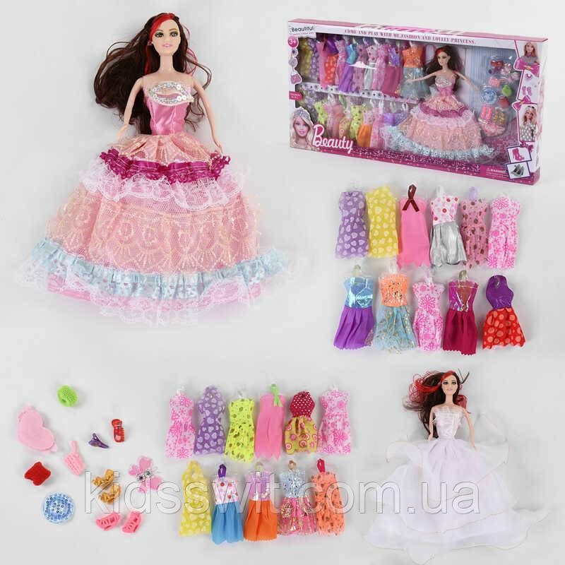 """Лялька 665 В-2 """"Гардероб"""", сукні, в коробці"""