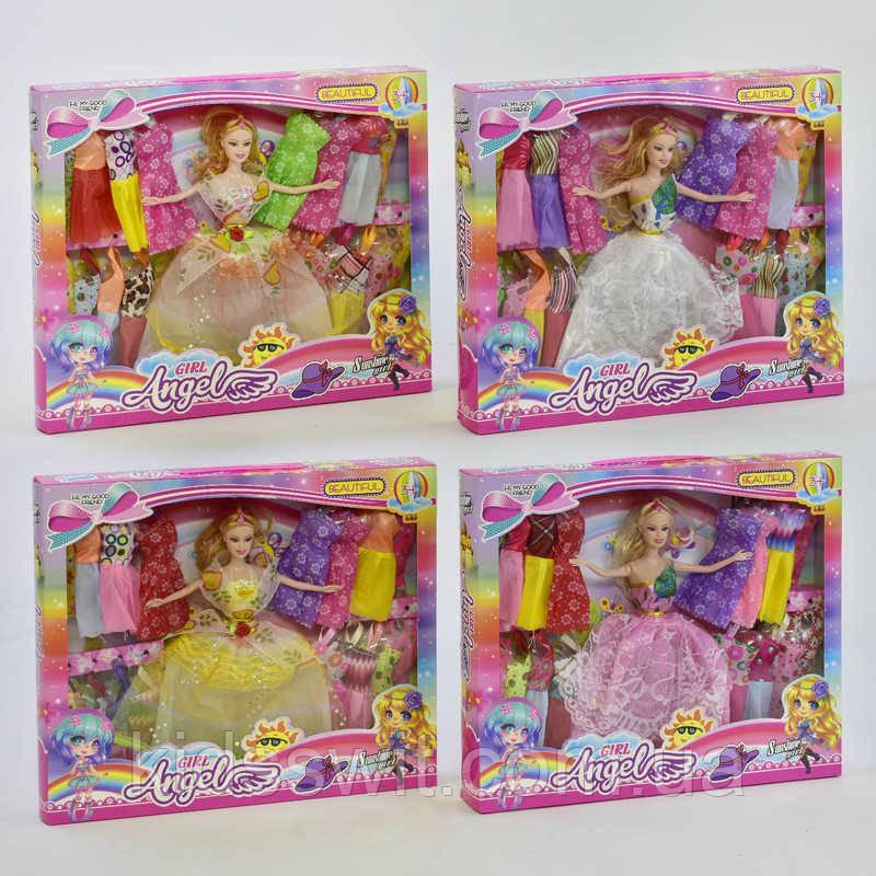 "Кукла 88085 F ""Гардероб"" 4 вида, одежда, в коробке"