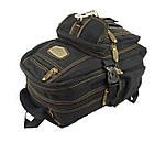 Брезентовый(джинсовый) малый рюкзак GoldBe! Синий, фото 3