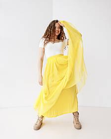 Игривая воздушная юбка макси в 3 цветах в универсальном размере.
