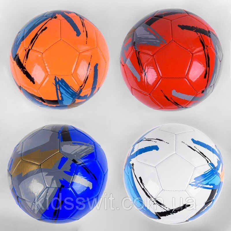 Мяч футбольный С 40061 размер №5, 4 цвета, материал PU, 320 грамм