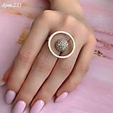 Кольцо Серебро 925 пробы + пластины Золота 375 пробы Размеры 14-21, фото 3