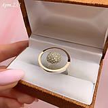 Кольцо Серебро 925 пробы + пластины Золота 375 пробы Размеры 14-21, фото 2