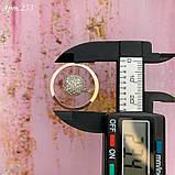 Кільце Срібло 925 проби + пластини Золота 375 проби Розміри 14-21, фото 5