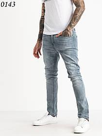 Чоловічі блакитні завужені джинси 1-0143