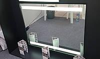 Ультратонкое зеркало с светодиодной подсветкой в алюминиевой раме, индивидуальный размер
