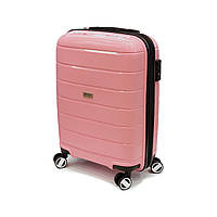 Полипропиленовый чемодан малого размера Airtex Jupiter 232 розовый, фото 1