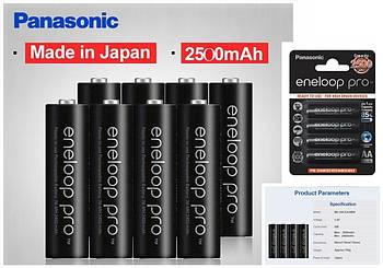Аккумулятор PANASONIC Eneloop Pro AA 2500 mAh Ni-Mh 1.2v (BK-3HCDE) Пальчиковая батарейка в Блистере, 4ШТ