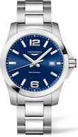Мужские Часы LONGINES L3.759.4.96.6 Conquest 41 mm Blue Dial Quartz CLASSIC