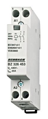 Контактор модульный BZ 20А 2НО 24В DC Schrack