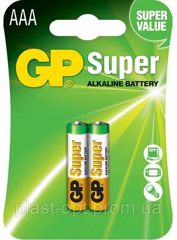 Лужні батарейки GP Super Alkaline LR3 2шт., фото 2