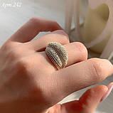 Кільце Срібло 925 проби з 300 фіанітами диамантовой ограновування Розміри 14-21, фото 3