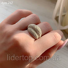 Кольцо Серебро 925 пробы с 300 фианитами диамантовой огранки Размеры 14-21