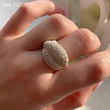 Кільце Срібло 925 проби з 300 фіанітами диамантовой ограновування Розміри 14-21, фото 2