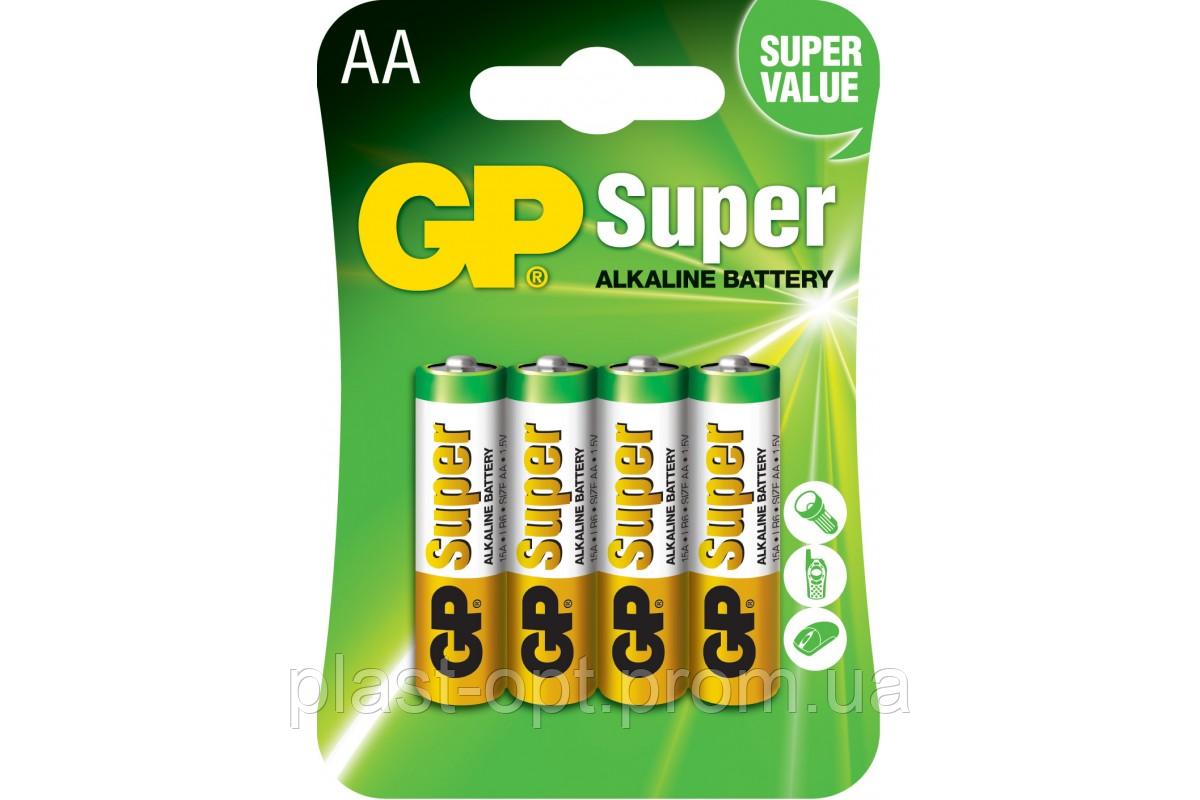 Батарейка GP AA (LR6) Super Alkaline 4шт