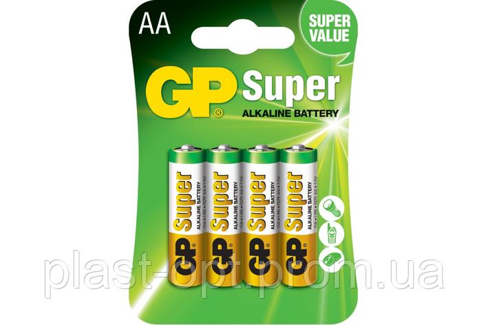 Батарейка GP AA (LR6) Super Alkaline 4шт, фото 2