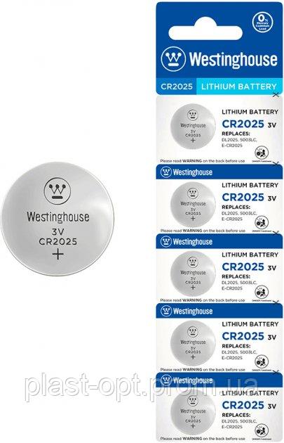 """Літієва батарейка Westinghouse Lithium """"таблетка"""" CR2032 5шт/ уп blister"""