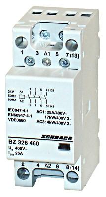 Контактор модульный BZ 25А 4НО 24В AC Schrack