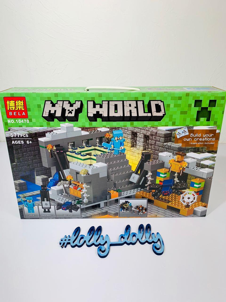 Конструктор Bela Minecraft 10470 Портал в Край Майнкрафт