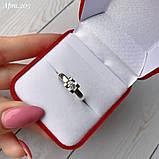 Кольцо Сердце Серебро 925 пробы с фианитом + пластины Золота 375 пробы Размеры 14-21, фото 3
