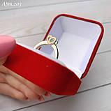 Кольцо Сердце Серебро 925 пробы с фианитом + пластины Золота 375 пробы Размеры 14-21, фото 4