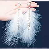 Сережки пір'я ніжні та романтичні, серьги перья, фото 2