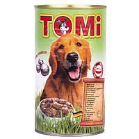 TOMi ЯГНЕНОК (lamb) консервы корм для собак, банка. Вес 1.2кг.