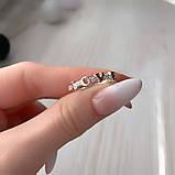 Кільце Love Срібло 925 проби з фіанітами + пластини Золота 375 проби Розміри 14-21, фото 2
