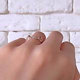 Кольцо Кошка Серебро 925 пробы с фианитами + пластины Золота 375 пробы Размеры 14-21, фото 2