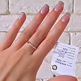 Кільце Кішка Срібло 925 проби з фіанітами + пластини Золота 375 проби Розміри 14-21, фото 3