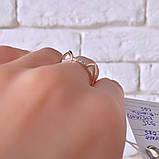 Кільце Кішка Срібло 925 проби з фіанітами + пластини Золота 375 проби Розміри 14-21, фото 5