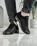 Кросівки чоловічі демісезонні чорні (Кз-18ч), фото 2