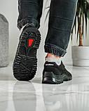 Кроссовки мужские демисезонные черные (Кз-18ч), фото 3
