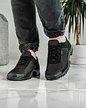 Кроссовки мужские демисезонные черные (Кз-18ч), фото 4