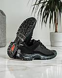 Кросівки чоловічі демісезонні чорні (Кз-18ч), фото 7