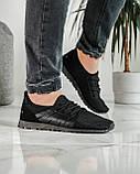 Літні чоловічі кросівки чорні сітка (ПР-3304ч), фото 2