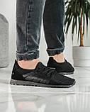 Літні чоловічі кросівки чорні сітка (ПР-3304ч), фото 3