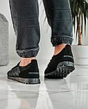 Летние мужские кроссовки черные сетка (ПР-3304ч), фото 4