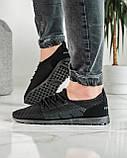 Літні чоловічі кросівки чорні сітка (ПР-3304ч), фото 5