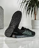 Летние мужские кроссовки черные сетка (ПР-3304ч), фото 6