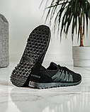 Літні чоловічі кросівки чорні сітка (ПР-3304ч), фото 6