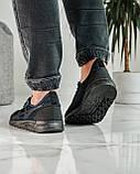 Кросівки чоловічі сині з чорним літні (ПР-4007с), фото 3