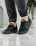 Кросівки чоловічі сині з чорним літні (ПР-4007с), фото 4