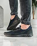 Кросівки чоловічі сині з чорним літні (ПР-4007с), фото 6